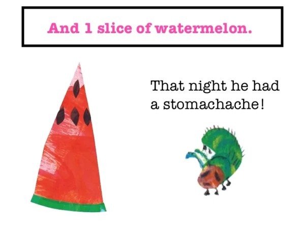 the very hungry caterpillar text # 21