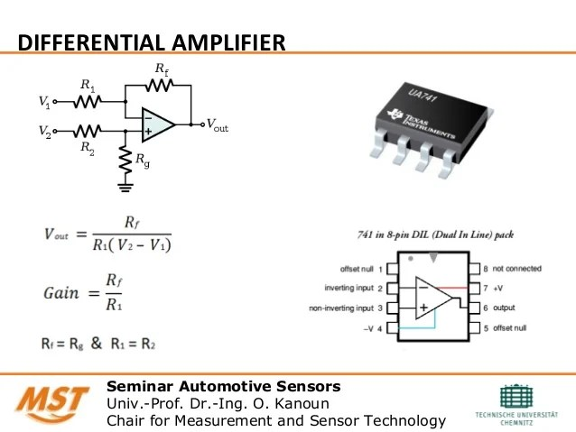 Differential Amplifier Bridge Sensors Circuits And Resistive Bridge