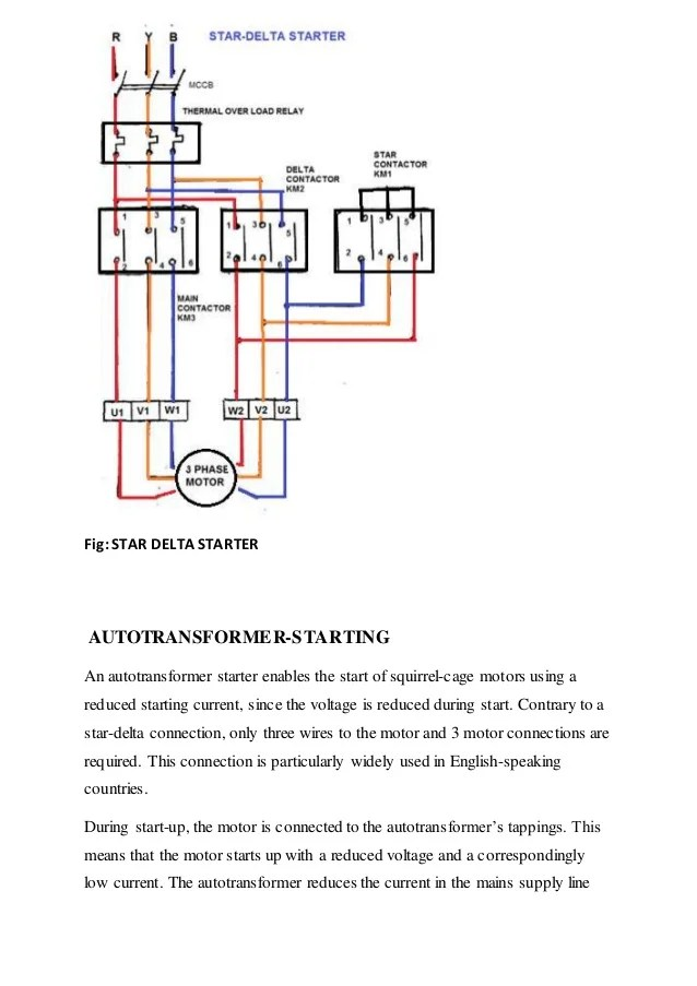 autotransformer wiring diagram relationship for employees switchgear and protection, starting of 3 phase induction motor