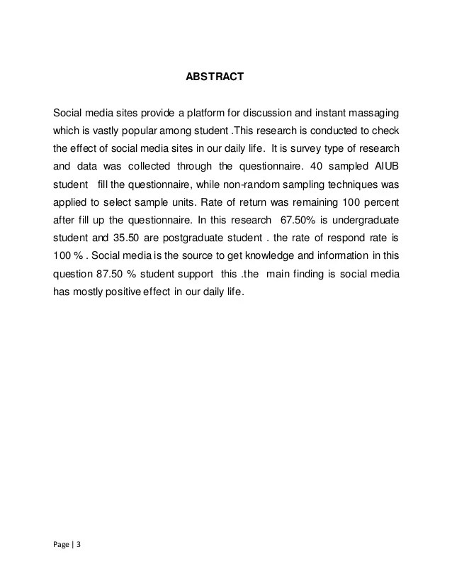 The Effect Of Social Media In Our Daily Life