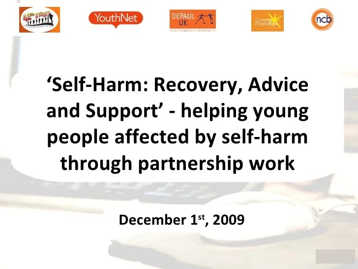Self harm recovery advice and support helping young people