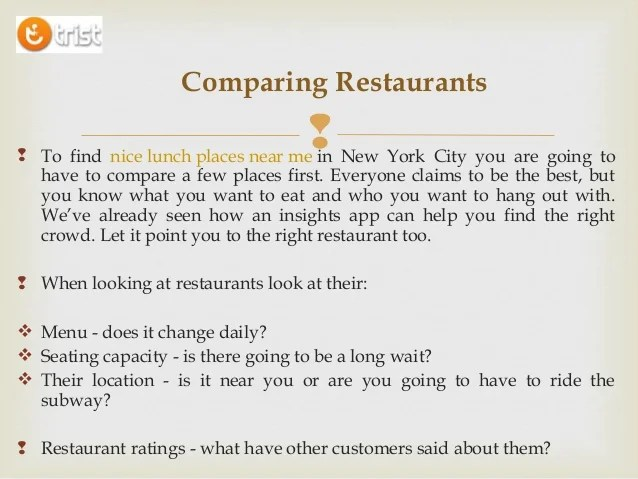 Find Nice Restaurant Near Me