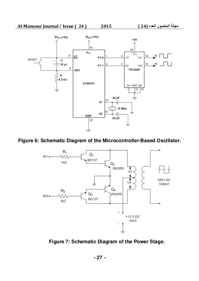 microcontroller based inverter circuit diagram stereo mini plug wiring design and implementation of a dc ac 9