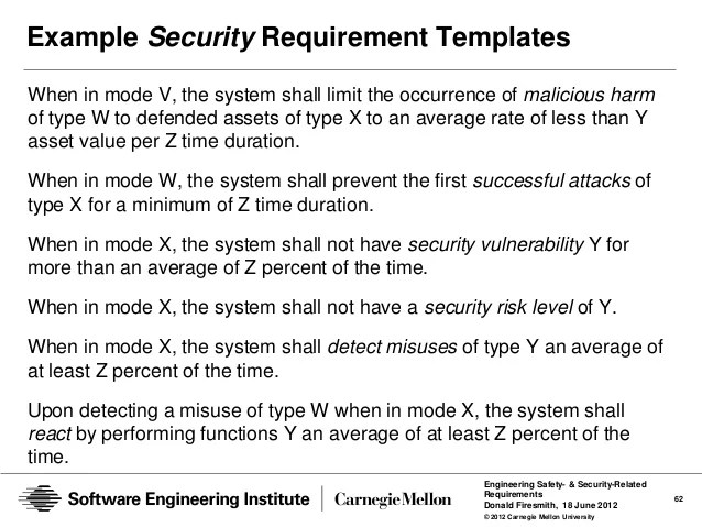 What Security Requirements