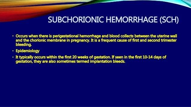 Subchorionic Hematoma Ultrasound 5 Weeks