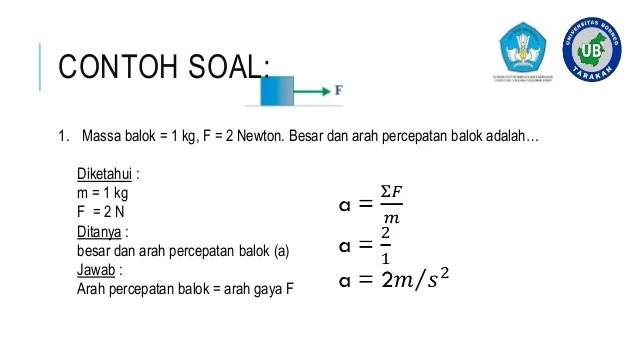 Contoh Soal Fisika Hukum Newton 3 Cute766