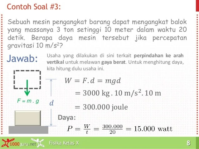 Pembahasan Materi Usaha Fisika Kelas 10 Cute766
