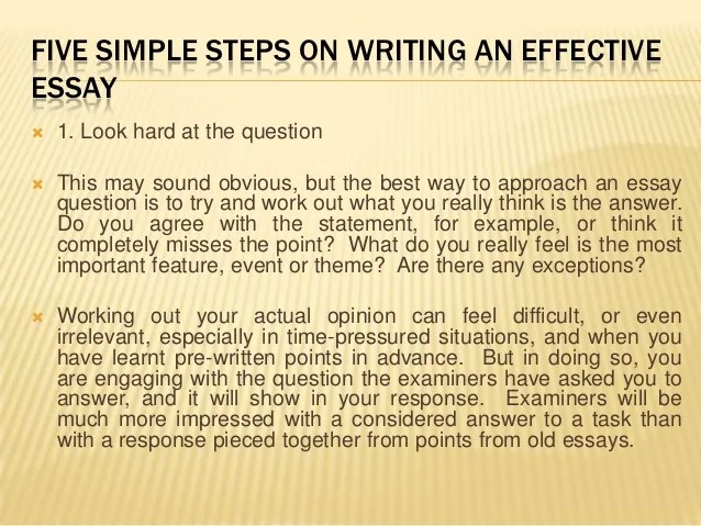 Five simple steps on writing an effective essay
