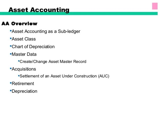 SAP  FIXED ASSETS ACCOUNTING