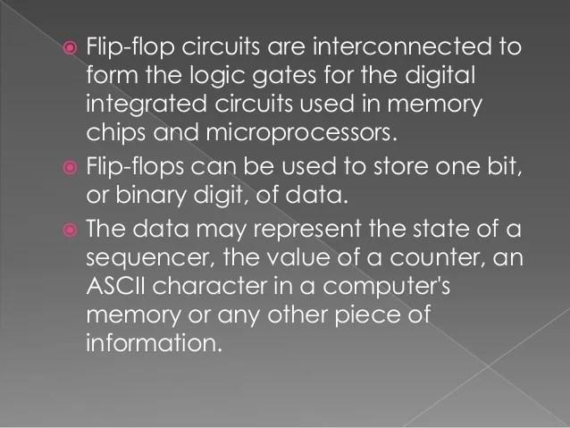 Digital Logic Circuits With Logic Gates Like And Or Flipflop Etc