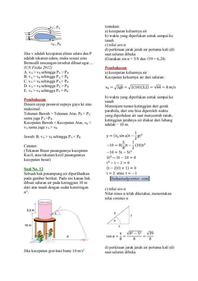 Soal Fluida Dinamis : fluida, dinamis, Pembahasan, Fluida, Dinamis
