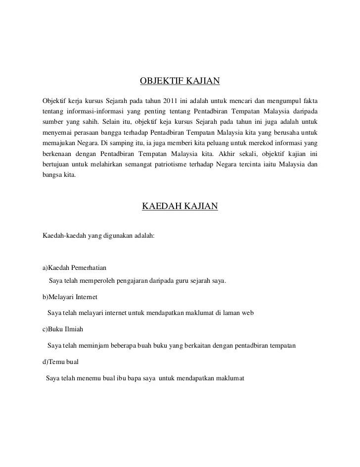 Tugasan Sejarah Tingkatan 3 Tst3 Kerja Kursus Sejarah Cute766