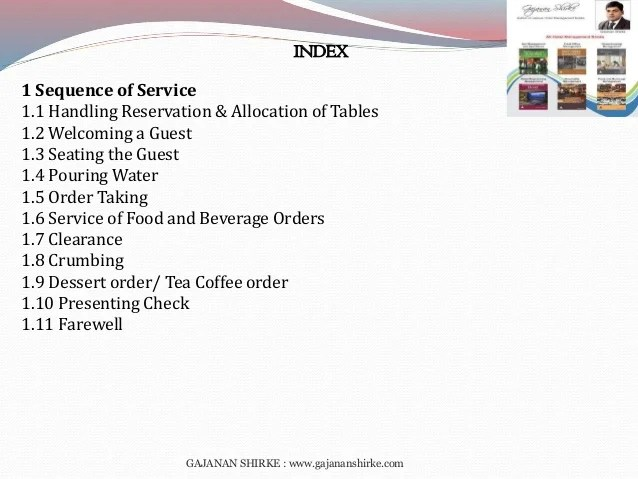 Food and beverage service management book