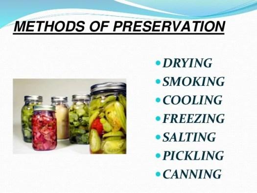 Food preservation.