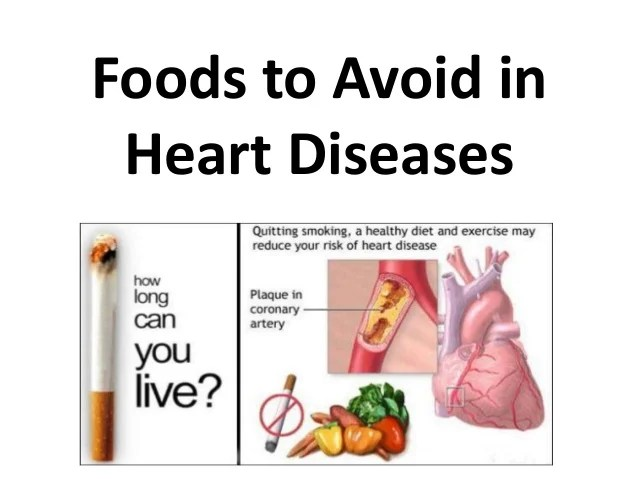 Foods to avoid in heart diseases hindi  also rh slideshare