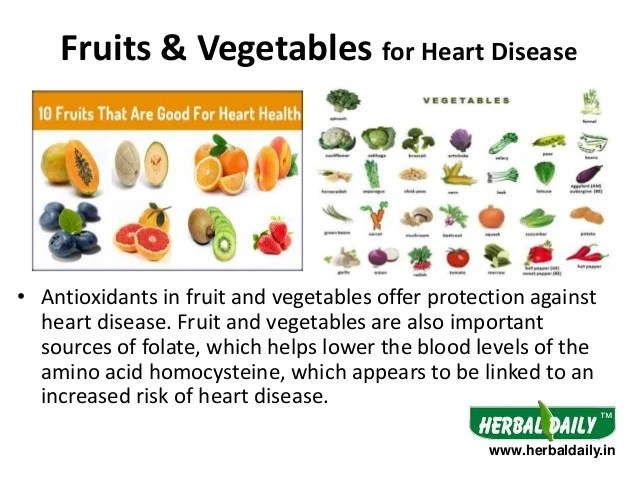 fruits  vegetables for heart disease also foods to eat in diseases hindi  rh slideshare