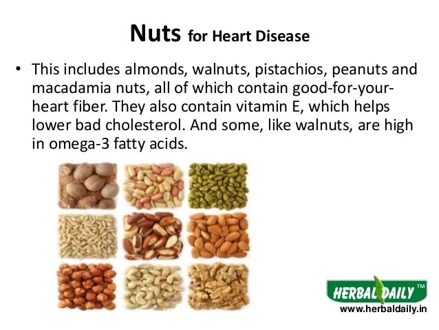 nuts for heart disease also foods to eat in diseases hindi  rh slideshare