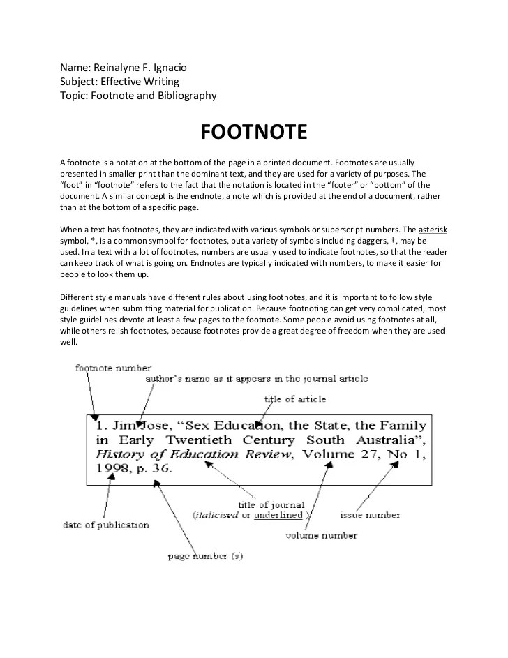 Footnote And Bibliography