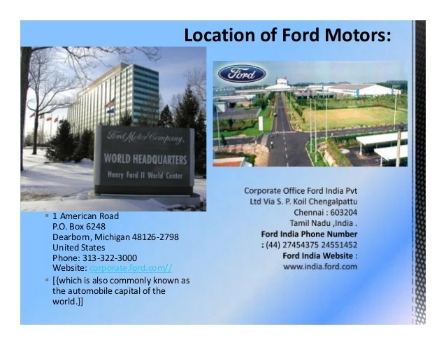 Ford motor company human resources phone number for Ford motor company number
