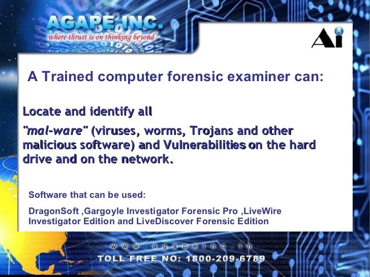 Role of a Forensic Investigator