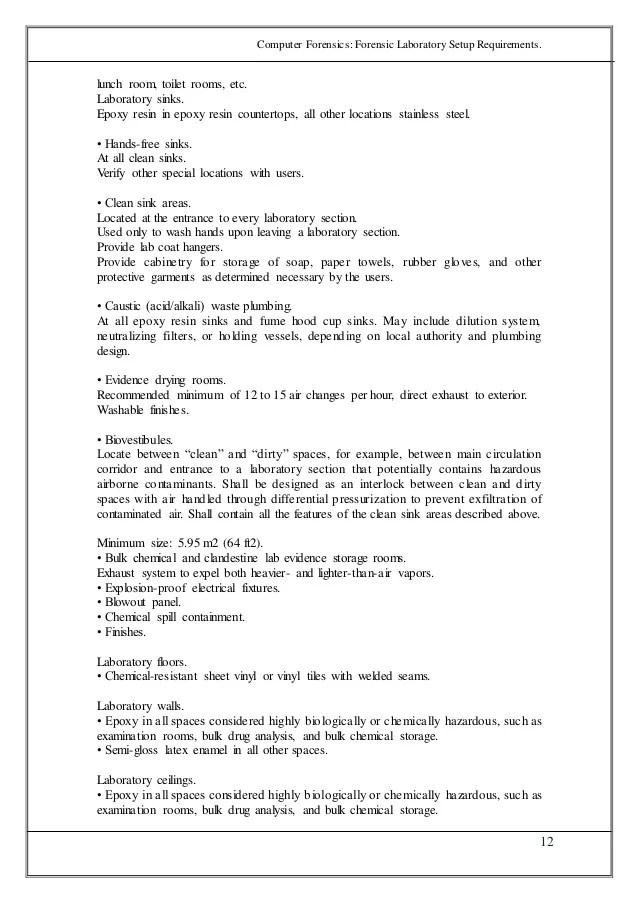 Forensic Laboratory Setup Requirements