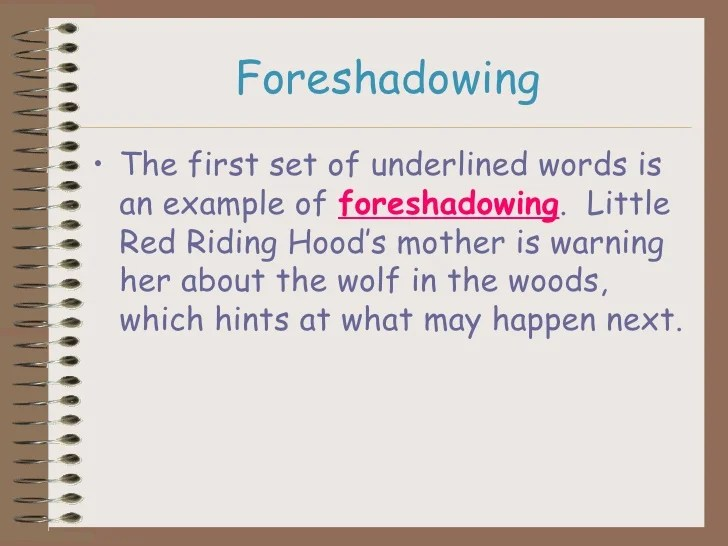 Foreshadow & Flashback