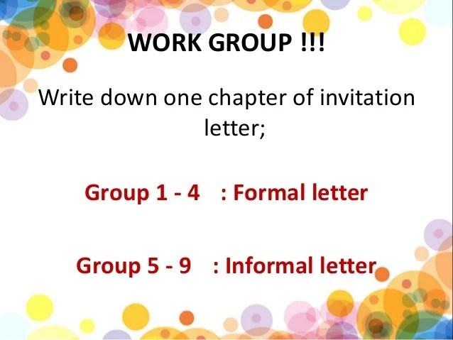 Perbedaan formal dan informal invitation letter inviview formal and informal invitation kls 11 kurikulum 2017 stopboris Images