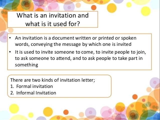 Invitation Letter 3