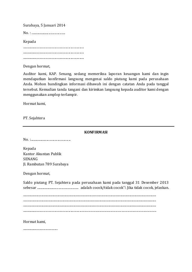 Form Konfirmasi Piutang