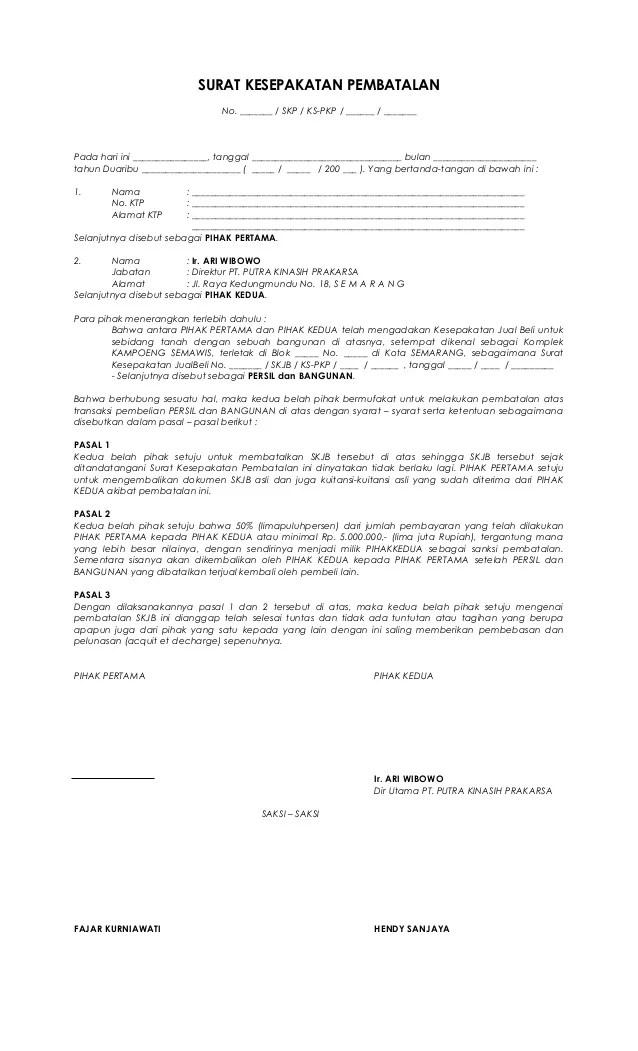 Surat Pembatalan Po : surat, pembatalan, Kul14h, Surat, Pembatalan, Pembelian, Rumah, Cute766