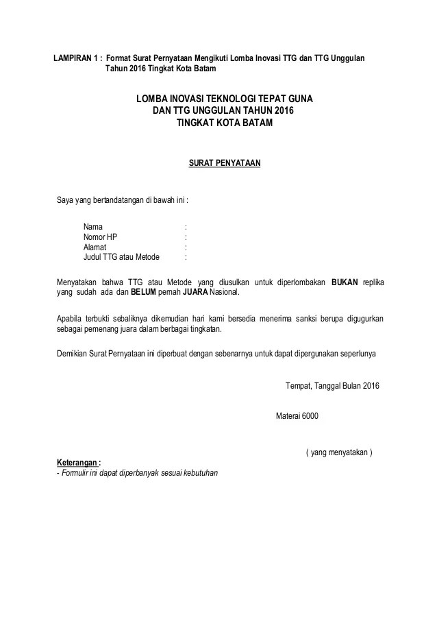 Surat Rekomendasi Lomba : surat, rekomendasi, lomba, Contoh, Surat, Keterangan, Mengikuti, Lomba