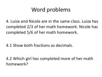 All Worksheets  Fraction And Decimal Word Problems ...