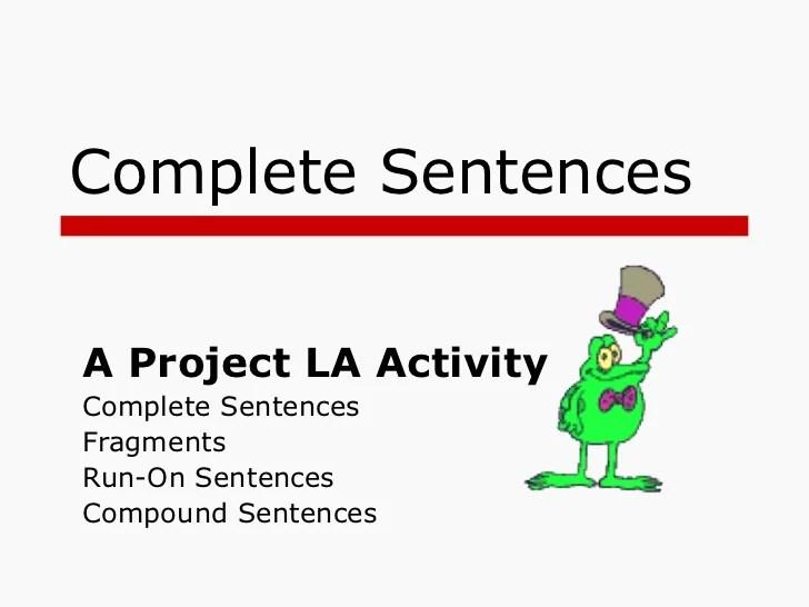 Sentence Fragments Advertising