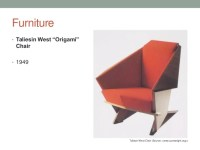 frank lloyd wright origami chair