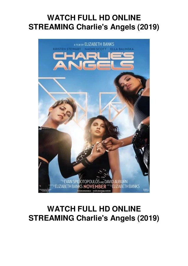 Charlie's Angels 1 Streaming : charlie's, angels, streaming, WATCH, MATCH, Charlie's, Angels, (2019), ACCESS