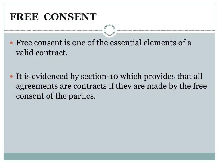 Free consent By RAZI ANWAR