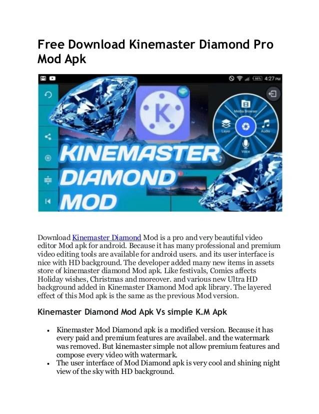 Download Kinemaster Pro Mod : download, kinemaster, Download, Kinemaster, Diamond