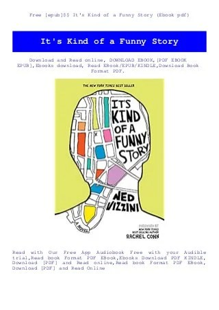 It's Kind Of A Funny Story Book Pdf Download : funny, story, download, [epub]$$, Funny, Story, (Ebook