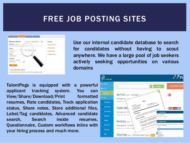 free jobs posting site