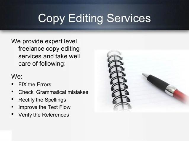 freelance copy editing