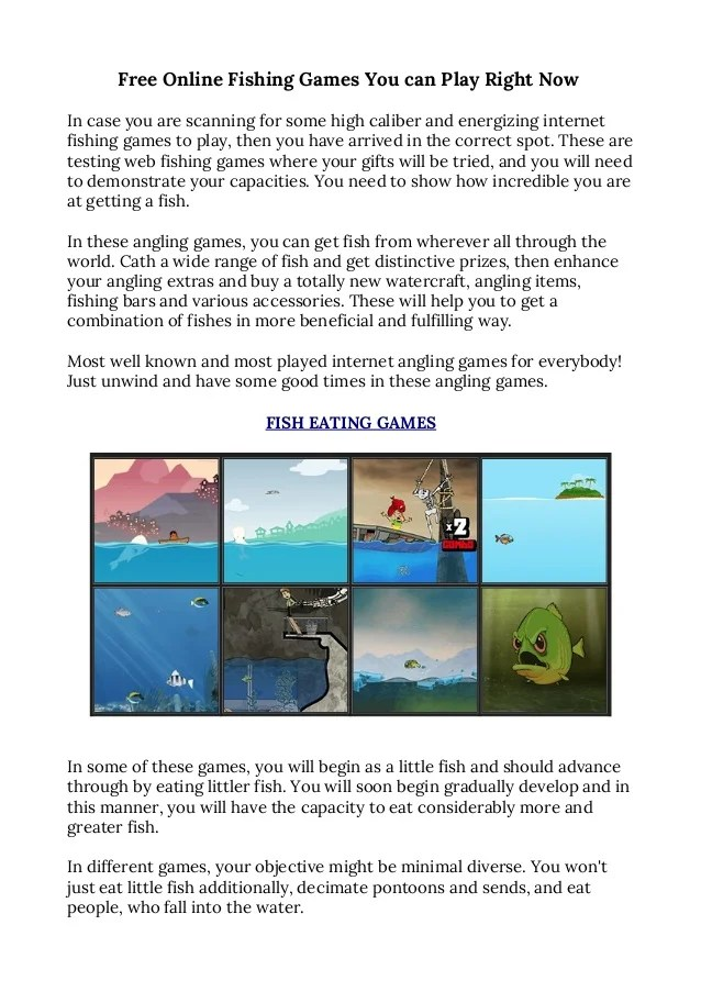 Free Online Fishing Games You Can Play Right Now