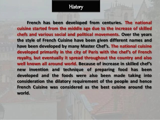 French cuisine ppt