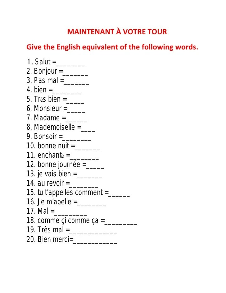 Spanish Introductions And Greetings Worksheet