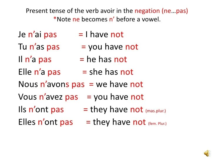 expressions with avoir also french verb in the present tense rh slideshare