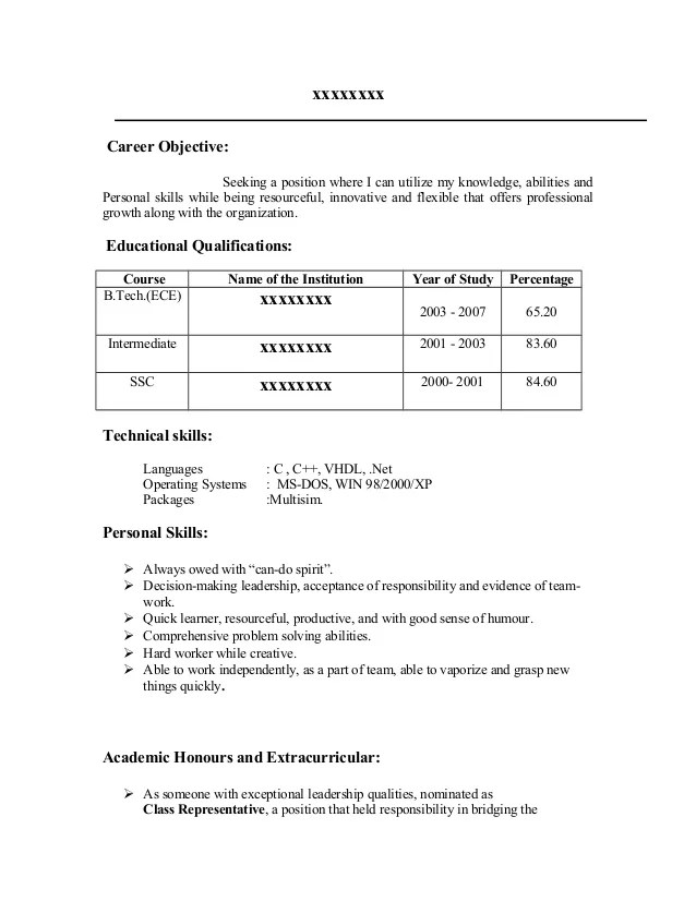career objective resume whats good job for resumes write