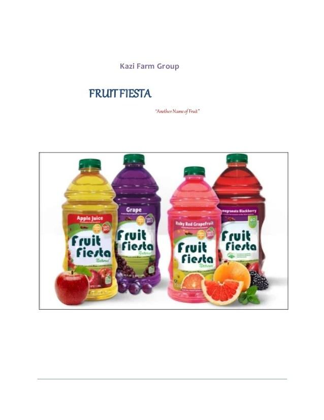 Report on 'Fruit juice'