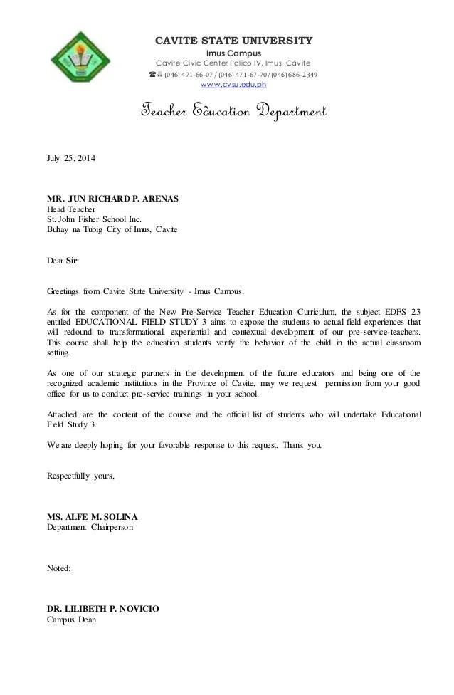 Fs3 letter