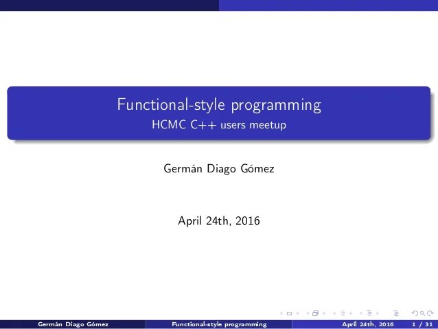 Functional Style Programming