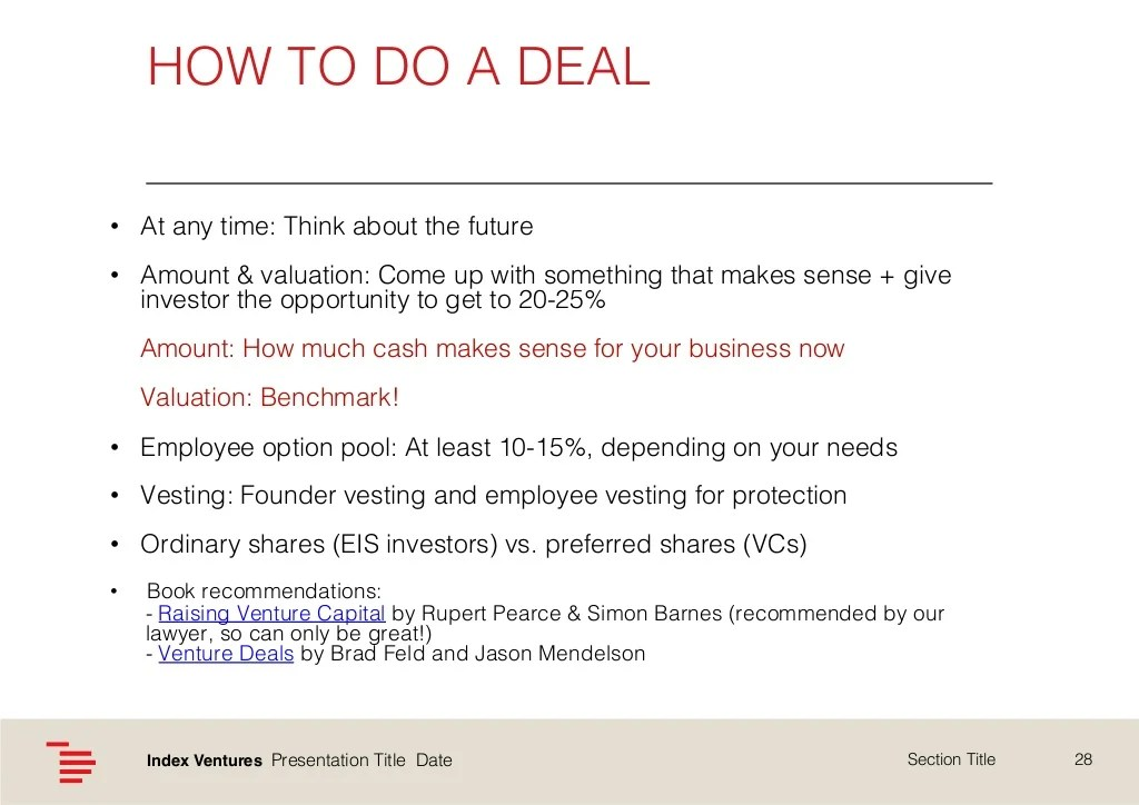 HOW TO DO A DEAL!