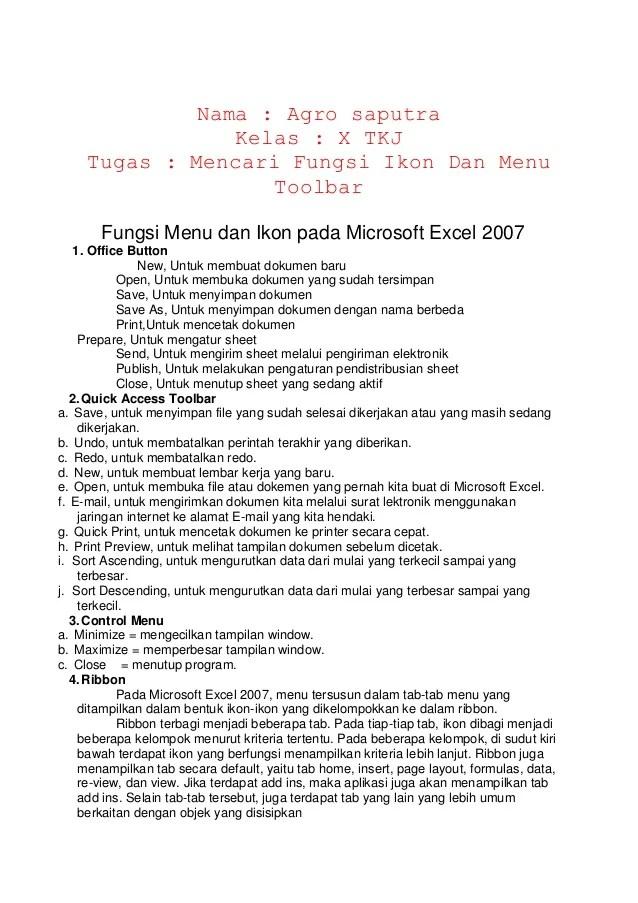 Fungsi Icon Microsoft Excel 2007 : fungsi, microsoft, excel, Fungsi, Microsoft, Excel
